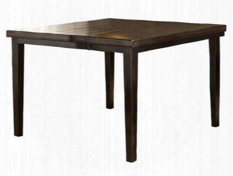 "5381-835 Killarney 54""-72"" Extendable Counter Height Dining Table With Butterfly Leaf Hardwood And Wood Composites Construction In Black And Antique Brown"