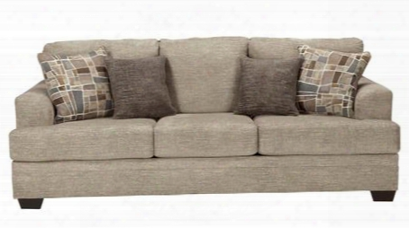 """Barrish Collection 4850138 91"""" Sofa With Fabric Upholstery Tri-block Feet Removable Seat Cushions And Traditional Style In"""