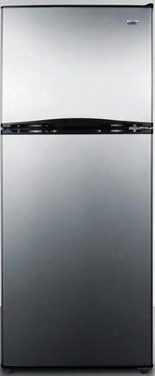 """Ff1073ss 24"""" Top Freezer Refrigerator With 9.9 Cu. Ft. Capacity Frost Free Operation Thin-line Design Two Clear Crispers Interior Light And Full Freezer"""