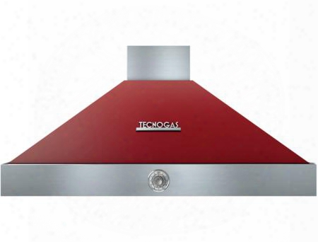 "Hd481acrc 48"" Deco Series Pyramid Hood With 4 Speed Settings Stainless Steel Baffle Filters Analog Control And 600 Cfm Maximum Aspiration Capacity: Red With"