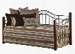 1159DBLH Matson Twin Size Daybed with Suspension Deck Solid Wood Posts and Tubular Steel Construction in Cherry and Black