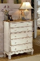 "1172-785 Wilshire 42"" Chest with 5 Drawers Tongue and Groove Drawer Bottoms and Solid Pine Wood Construction in Antique"