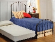 346BTWHTR Bonita Twin Size Trundle Panel Bed Set with Rails Included Timeless Style and Metal Construction in Copper Mist