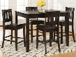 923 Dark Rustic Prairie Counter Height Table and Four Stools - Dark