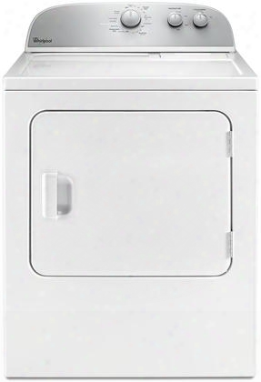 "Wed4985ew 29"" Top Load Electric Dryer With 5.9 Cu. Ft. Capacity Flat Back Design Wriknle Shield Option In"
