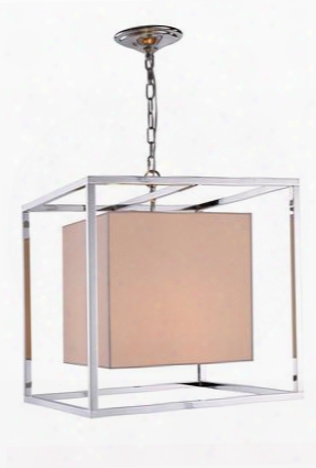 1416d22pn 1416 Quincy Collection Pendant Lamp L: 22 W: 22 H: 22 Lt: 2 Polished Nickel