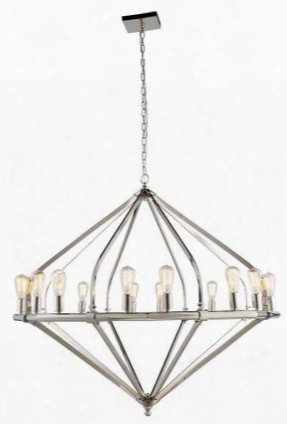 1472g52pn 1472 Illumina Collection Pendant Lamp D: 52 H: 45 Lt: 16 Polished Nickel