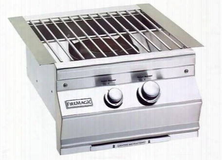 "19slb1n0 Aurora 19"" Power Burner With Stainless Steel Grid And Hot Surface Ignition System (120v) Up To 60 000 Btus Natural Gas In Stainless"