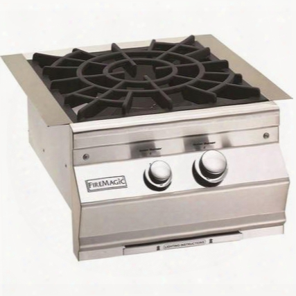 "19slb2p0 Aurora 19"" Power Burner With Porcelain Cast Iron Grid And Hot Surface Ignition System (120v) Up To 60 000 Btus Lliquid Propane In Stainless"