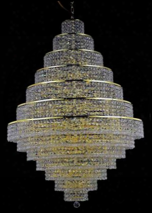2039g42g/ss 2039 Maxim Collection Large Hanging Fixture D42in H60in Lt: 38 Gold Finish (swarovski Strass/elements