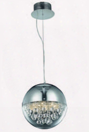 2074d12c/rc 2074 Apollo Collection Hanging Fixture D12.5in H12.5 In Lt: 6 Chrome Finish (royal Cut