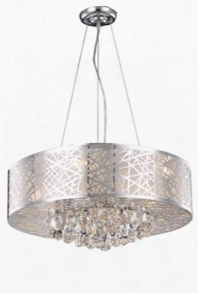 2079d24c/rc 2079 Prism Collection Hanging Fixture D24in H11in Lt: 9 Chrome Finish (royal Cut