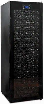 "269 01 66 03 24"" Freestanding Classic Wine Cellar With 166 Bottle Capacity Adjustable Thermostat Digital Touchscreen Black Cabinet And Quiet"