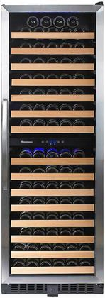 269026603 Classic Dual Zone Wine Cellar With 166 Bottle Capacity Interior Led Lighting Digital Touchscreen Black Cabinet And Uv Tinted Glass Door: