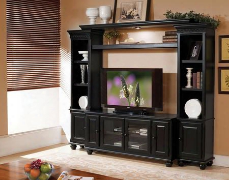 911003 Ferla Entertainment Center With Tv Stand Included In Black