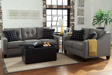 Brindon 53901-38-35-11 3-piece Living Room Set With Sofa Loveseat And Storage Ottoman In
