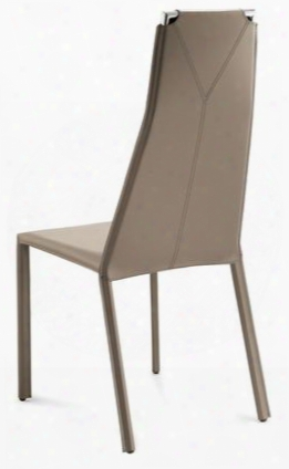 Cliff.s.0k0.cr.rto Cliff Dining Room Chair With Chrome Steel Frame And Regenerated Leather Cover In