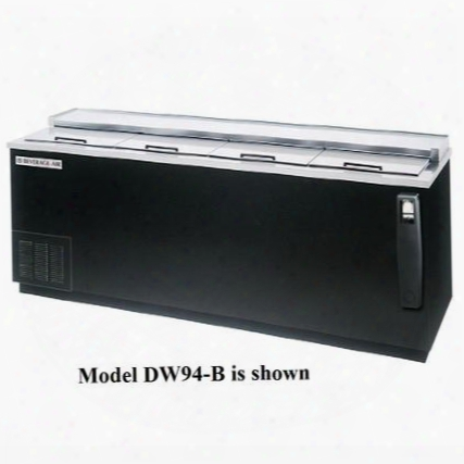 Dw94-b-02 Deep Well Bottle Cooler 4 Lids And 6 Dividers 28.5 Cu.ft. Capacity Black Exterior Stainless Steel Interior And Bottom Mounted