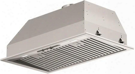 "F4bp28s1 29"" 400 Series Insert Hood With 600 Cfm 72 Dba Sound Level Ducted Or Recirculating Baffle Filter 4 Speed Control And Led Lighting: Stainless"