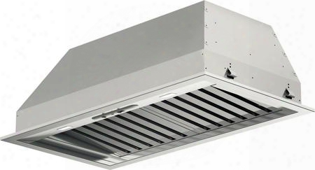 "F6bp34s1 35"" 600 Series Insert Hood With 600 Cfm 72 Dba Sound Level 4 Speed Mechanical Control Ducted Or Recirculating Pro Baffle Filters And Led Lighting:"