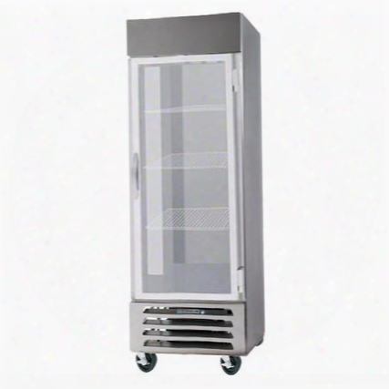 """Fb27-1g 27"""" Vista Series One Section Glas Door Reach-in Freezer 27 Cu.ft. Capacity Stainless Steel Front Robust Gray Painted Exterior Sides Aluminum"""
