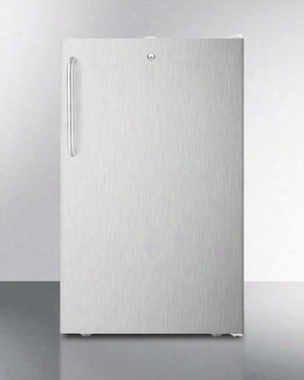 "Ff511l7sstb 20"" Commercially Approved Medical Compact Refrigerator With 4.1 Cu. Ft. Capacity Crisper Automatic Defrost And Door Lock: Pro Towel Bar"