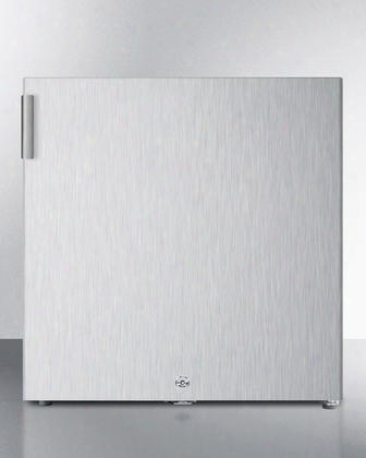 "Fs24lcss 19"" Compact Upright 1.4 Cu.ft. Capacity Freezer With Factory Installed Lock Adjustable Thermostat And Low Temperature Operation In Stainless"