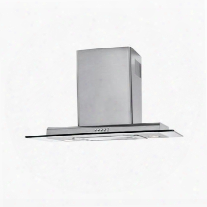 """Hch3100acs 30"""" Wall-mount Range Hood With 450 Cfm Motor Three Speeds Halogen Lighting And Three-layer Washable Grease Filter In Stainless Steel With Tempered"""