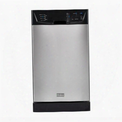 """Hdbc100afs 18"""" Full Console Built-in Dishwasher With Six Wash Cycles Delay Start Two Cup Shelves Stem Guard In Stainless"""