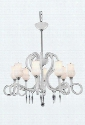 6948D35WH/SS 6948 Scroll Collection Hanging Fixture D35in H24.5in Lt: 8 White Finish (Swarovski Elements Crystal