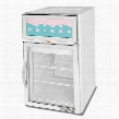 CRD5-1W-G One Section Countertop Pass-Through Display Refrigerator with 2 Swing Glass Doors 5.5 cu.ft. Capacity White Exterior and Top Mounted