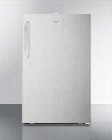 "FF511L7CSS Commercially listed 20"" wide built-in undercounter all-refrigerator in complete stainless steel auto defrost with a"