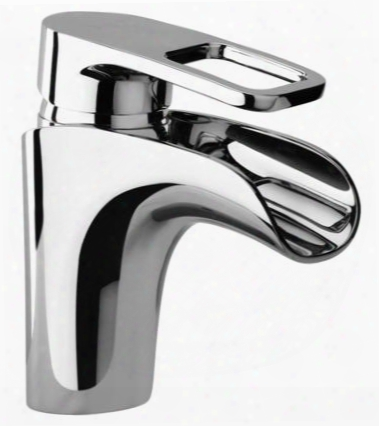 10212-82 Single Loop Handle Lavatory Faucet With Waterfall Spout Brushed Gold