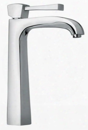 11205-92 Single Lever Handle Tall Vessel Sink Faucet With Arched Spout With Rose Gold