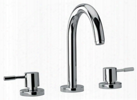 16102-92 Two Lever Handle Roman Tub Faucet With Goose Neck Spout Designer Rose Gold