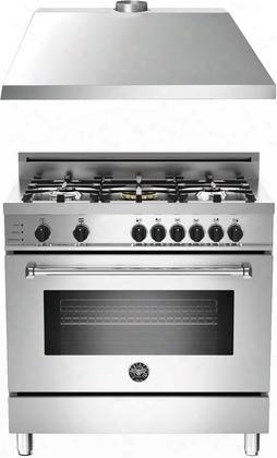 "2-piece Stainless Steel Kitchen Package With Mas365dfsxtlp 36"" Freestanding Liquid Propane Range And Ku36pro1xv 36"" 400 Cfm Range"