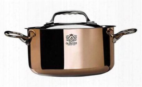 "6242.28 Prima Matera Stew Pan By De Buyer With 11"" Product Diameter Ferro-magnetic Bottom 2 Riveted Handles In Cast Stainless Steel Special"