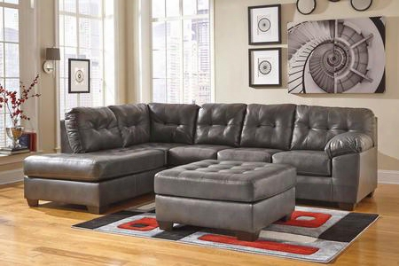 Alliston 20102-08-16-67 2-piece Living Room Set With Left Chaise Sectional Sofa And Ottoman In