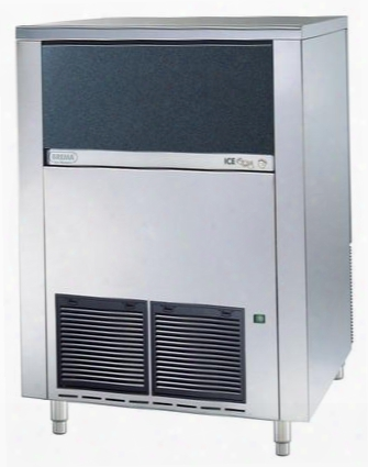 Cb1265a60 Undercounter Ice Cube Maker With Bin By Brema All Stainless Steel And Air Cooling System Self-contained With Capacity Of 286 Lbs. /24 Hr And Full