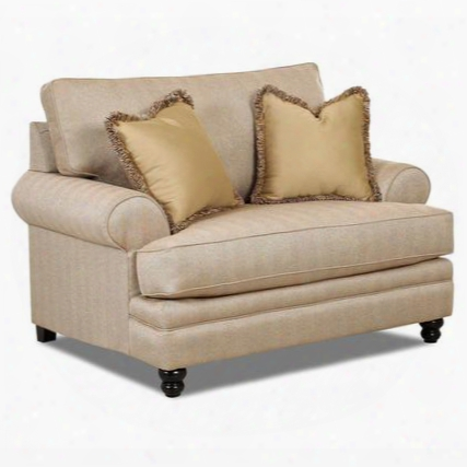 "Darcy Collection K33230fc 57"" Chair With Piped Stitching Turned Legs Pillows And Fabric Upholstery In Milan"