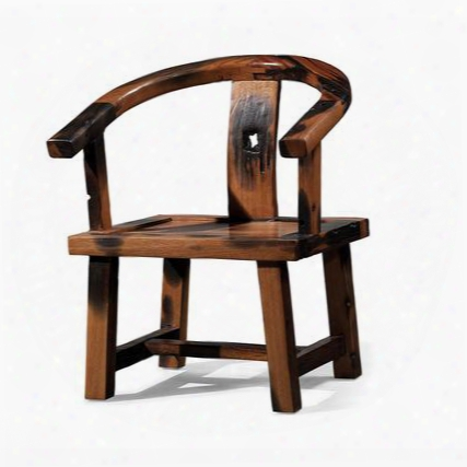 Ds-a05 Delphi Arm Chair With Acacia Wood Construction Rounded Back And Armrests In Rustic