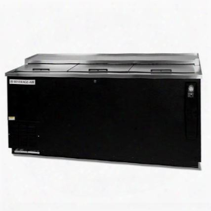 "Dw79-b-24 80"" Remote Horizontal Bottle Cooler Deep Well In Black With 5 Solid Self-closing Doors 5"