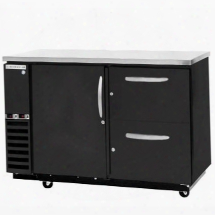 Dzd58-1-b-3 Dual-zone Solid Door Direct Draw With Two Independent Compartments To Allow Separate Temperatures In Black With One Solid Pull Out Keg Drawer On