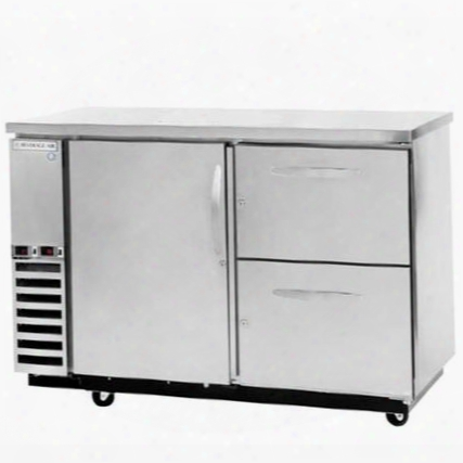 Dzd58-1-s-3 Dual-zone Solid Door Direct Draw With Two Independent Compartments To Allow Separate Temperatures In Stainless Steel With One Solid Pull Out Keg