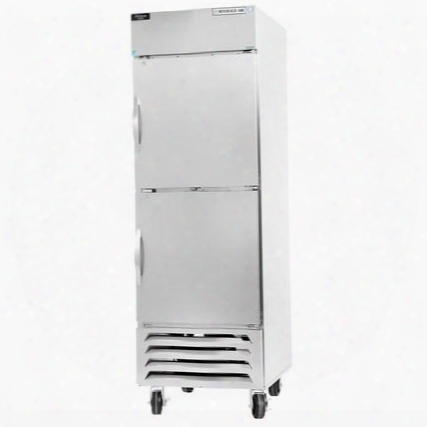 "Hbr27-1-hs 30"" Horizon Series One Section Solid Half Door Reach-in Refrigerator 27 Cu.ft. Capacity Stainless Steel Exterior And Interior With Bottom Mounted"