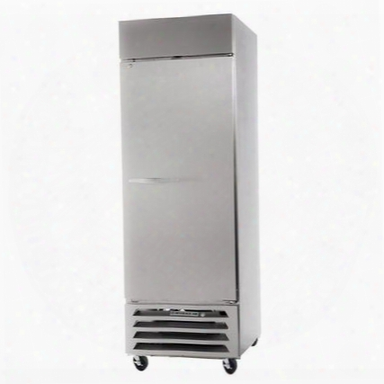 "Hbr27-1-s 30"" Horizon Series One Section Solid Door Reach-in Refrigerator 27 Cu.ft. Capacity Stainless Steel Exterior And Interior With Bottom Mounted"