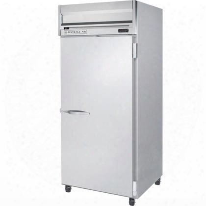 "Hr1w-1s 35"" Horizon Series One Section Solid Door Reach-in Refrigerator 34 Cu.ft. Capacity Stainless Steel Exterior"