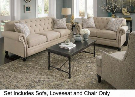 Kieran 44000slac21 3-piece Living Room Set With Sofa Loveseat And Chateau Colored Accent