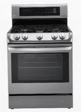 "Lrg4111st 30"" Freestanding Gas Range Oven With 6.3 Cu. Ft. Capacity Probake Convection 5 Sealed Burners Easyclean Technology And Door Lock: Stainless"