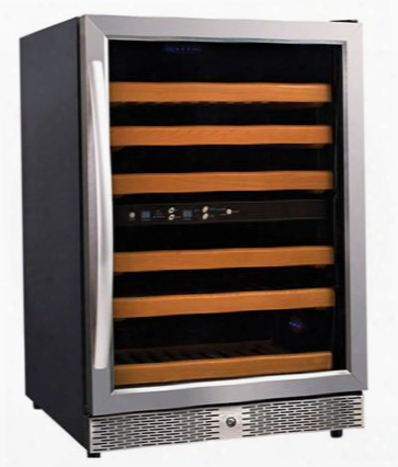 Mh54dz Single Section Wine Cooler With Dual Zone Temperature And 46 Botteles